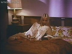Stunning Retro Blonde Carol Connors Wearing a See-Through Nightgown