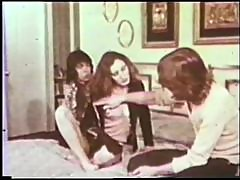 Hot Retro Porn Threesome with Creampie Ending