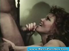 Chick gets fucked and facialized in 1970s retro porn movie