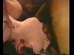 Retro deepthroat and face fuck