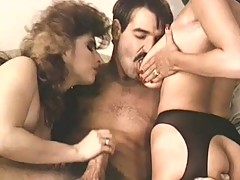 Two hot vintage babes love pumping this sweet cock
