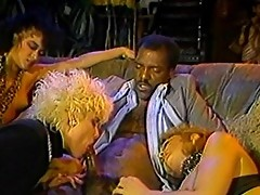 Vintage footage of interracial sex orgy