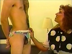 Man spanked in panties for being naughty