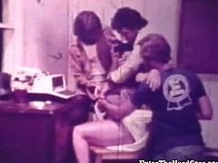 Vintage Video Girl Gets Gangbanged