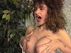 Curly haired bitch love getting pussy slammed