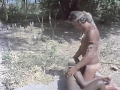 Hot interracial sex on the beach