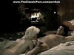 White-haired Retro Hooker Taking Cock In A Classic Porn Video