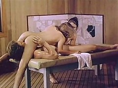 Retro porn with massage girls fucked