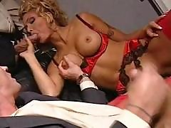 Busty Blonde Anna Nova Eats Cock And Gets Nailed By Two With A Dp