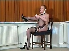 Sexy British busty pantyhose teaser