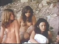 Vintage Western Action With Dirty Naked Housewives Being Saved From The Prison Escapees