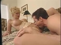 Peter North nails the blonde with his big cock