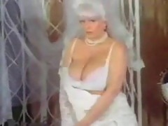 Vintage solo bride on webcam
