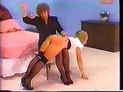 Shapely Bottom Receives A Vintage Spanking