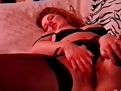German chick in a vintage solo scene