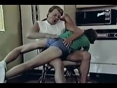 Vintage Twink Gay Bare Ass Spanking