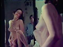Retrolicious Brunette Babe Gets Fucked and Swallows Steamy Cum
