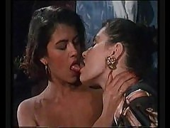 Classic porn scene is hot threesome