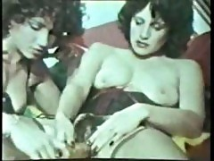 Hot Vintage Lesbian Action Kissing And Using Toys In Hairy Bushes
