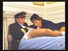 Brunette Stewardess Maud Kennedy Eats The Pilot's Cock And Gets Banged