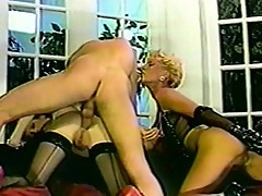 Two sexy vixens get nasty with young dude