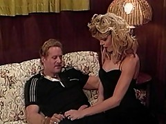 Alluring blondec bitch showered with semen