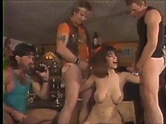 Christy Canyon Barroom Gangbang