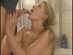 Horny German pornstar Tyra Misoux fucked in the shower
