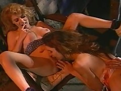 Two sizzling babes are sharing Indiana Jones's hard cock