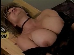 Big titted german mom fucked hard on a table